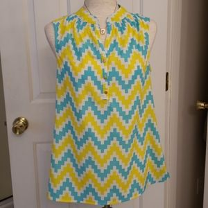 Macbeth Collection Chevron Blouse